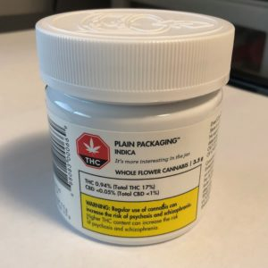 Plain Packaging – Whole Flower Cannabis